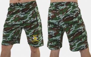 Камуфлированные армейские шорты с нашивкой Флот России - заказать в розницу