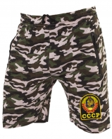 Камуфлированные милитари шорты с нашивкой СССР