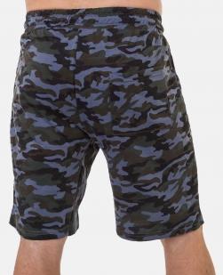 Камуфлированные мужские шорты с нашивкой Россия - купить онлайн