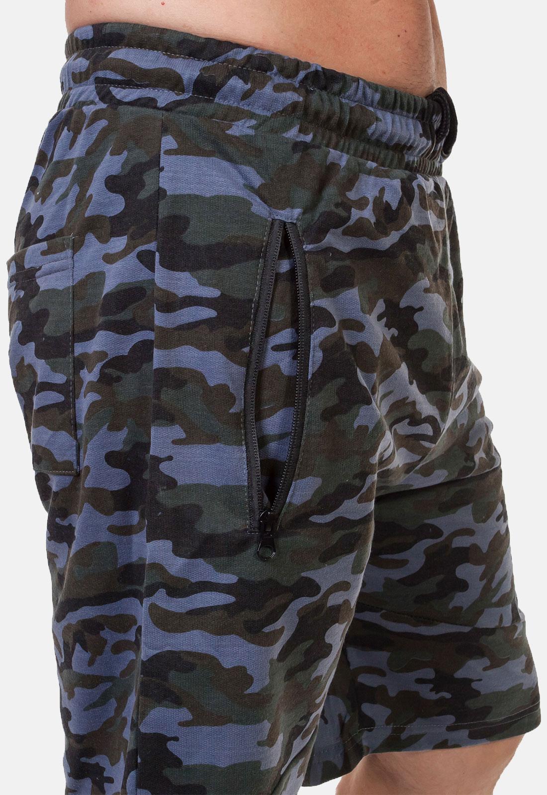 Камуфлированные мужские шорты с нашивкой Россия - купить с доставкой