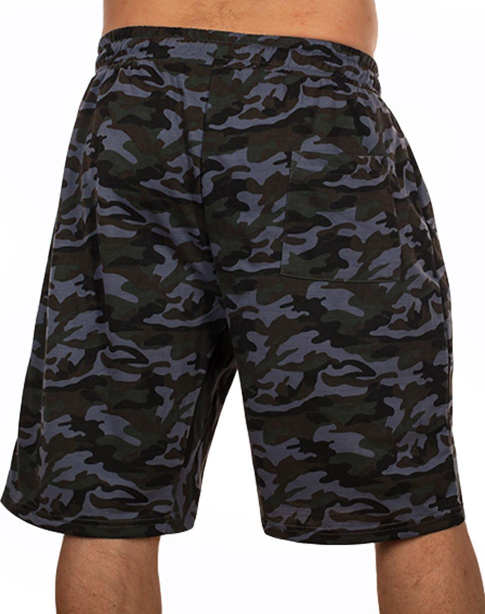 Камуфлированные мужские шорты с нашивкой ВКС - купитьвыгодно