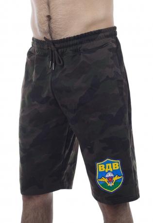 Мужские камуфлированные шорты IZZUE с цветной нашивкой ВДВ