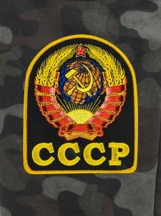 Камуфлированные трикотажные шорты с нашивкой СССР