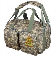 Камуфляжная армейская сумка с нашивкой Погранвойска
