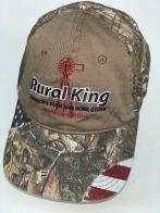 Камуфляжная бейсболка Rural King с бежевой вставкой на тулье