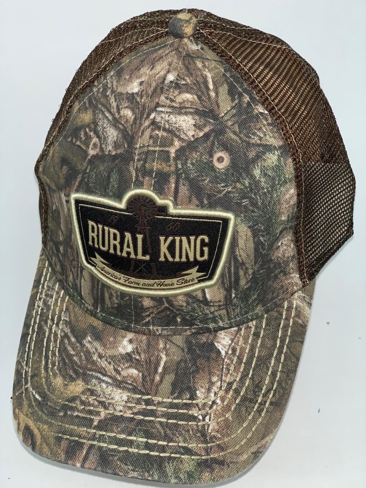 Камуфляжная бейсболка Rural King с сеткой