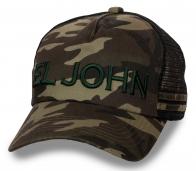 Камуфляжная бейсболка с сеткой El John