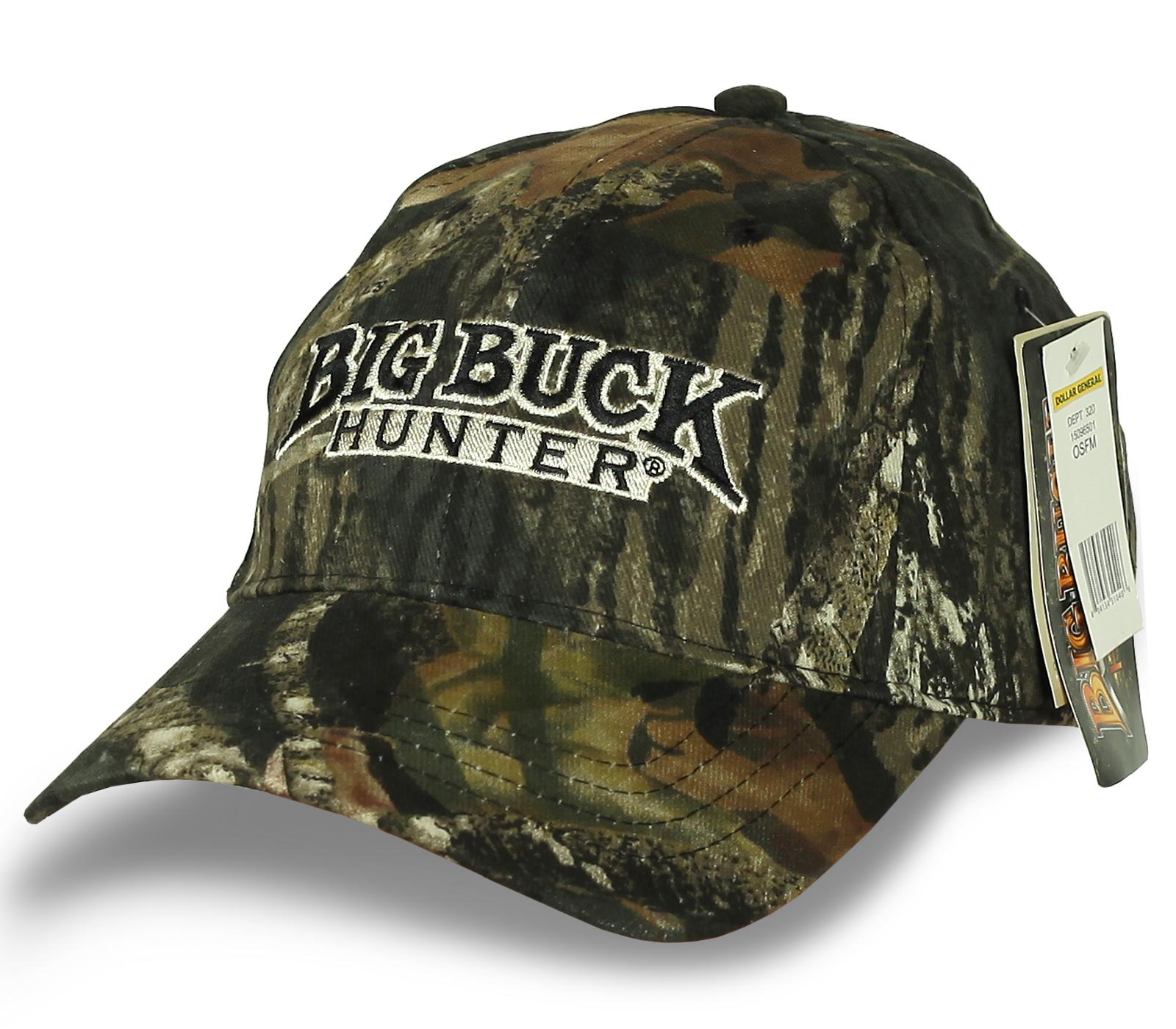 Камуфляжная брендовая бейсболка Bug Buck Hunter