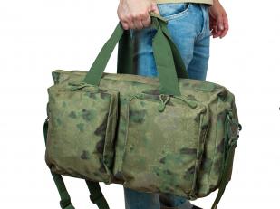 Вместительная камуфляжная дорожная сумка