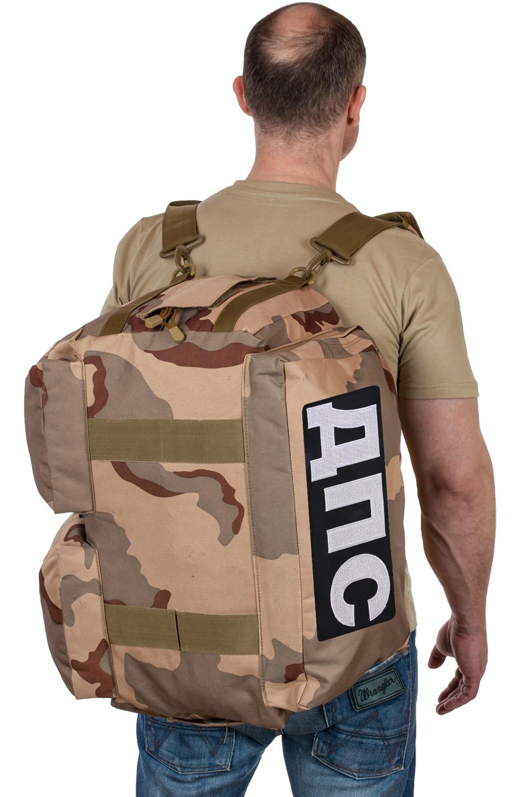 Купить камуфляжную дорожную сумку с нашивкой ДПС по выгодной цене
