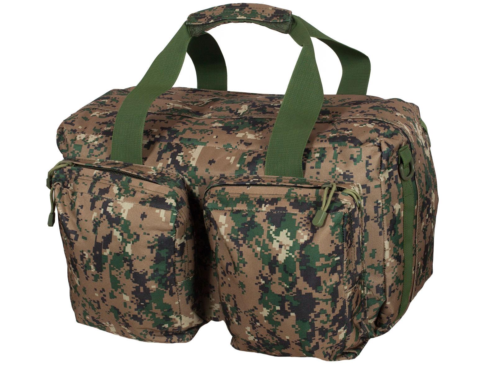 Камуфляжная дорожная сумка с нашивкой Ни пуха, Ни пера - заказать онлайн