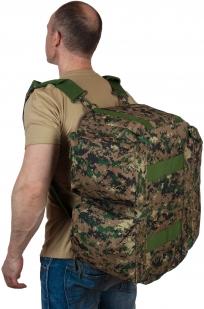 Камуфляжная дорожная сумка с нашивкой Ни пуха, Ни пера - купить оптом