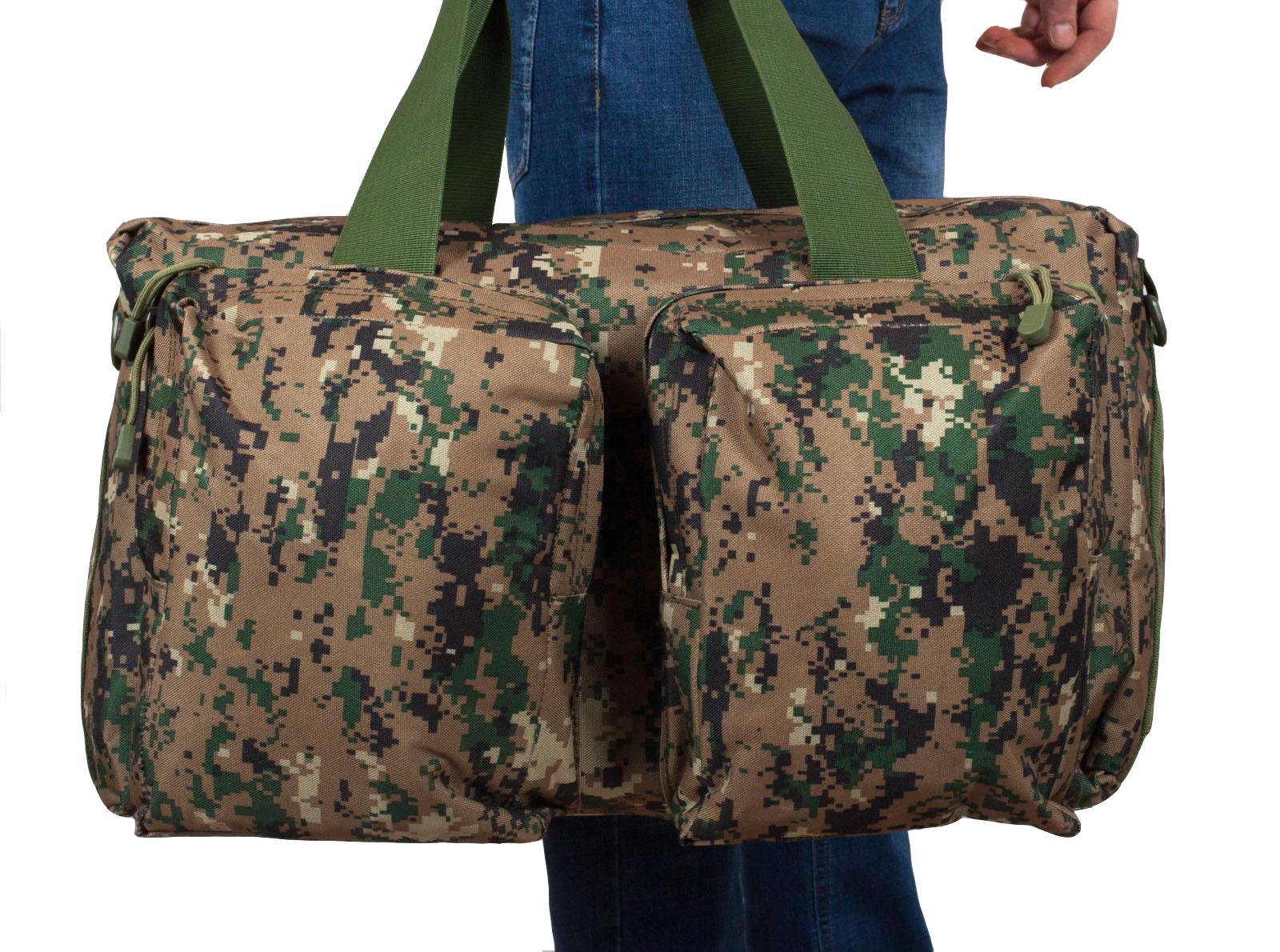 Камуфляжная дорожная сумка с нашивкой Ни пуха, Ни пера - купить с доставкой