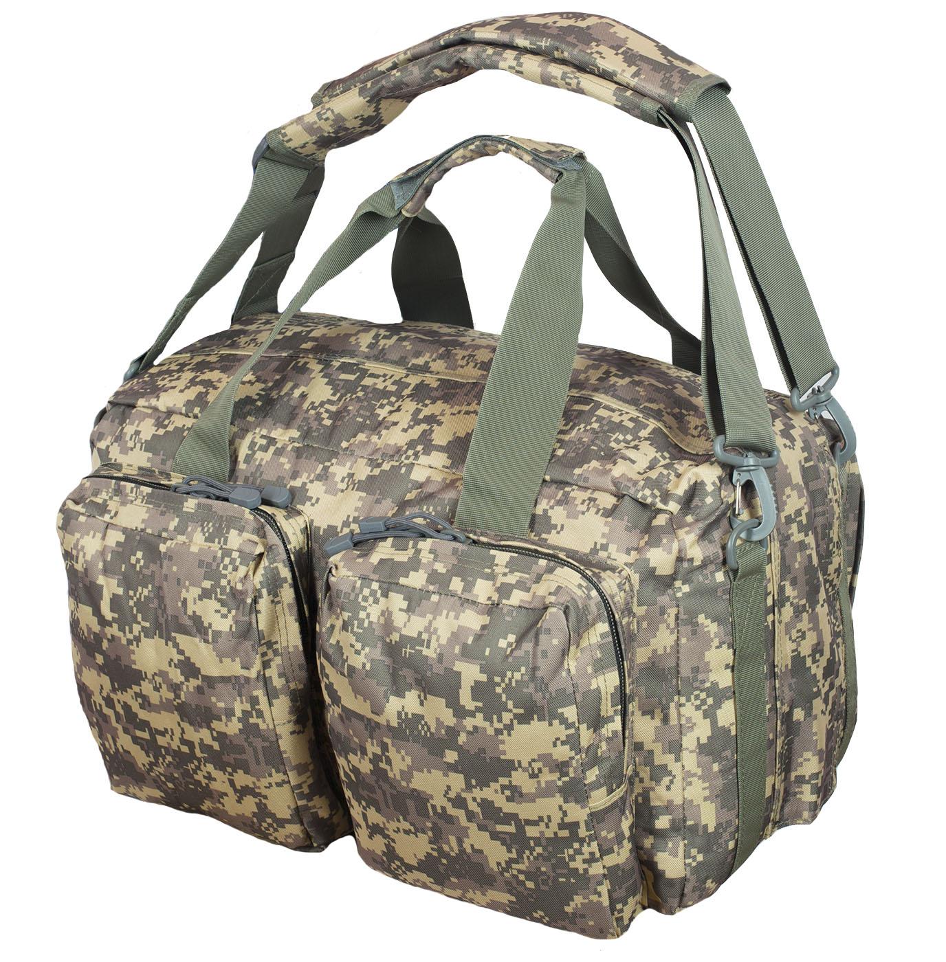 Камуфляжная дорожная сумка с нашивкой ПС