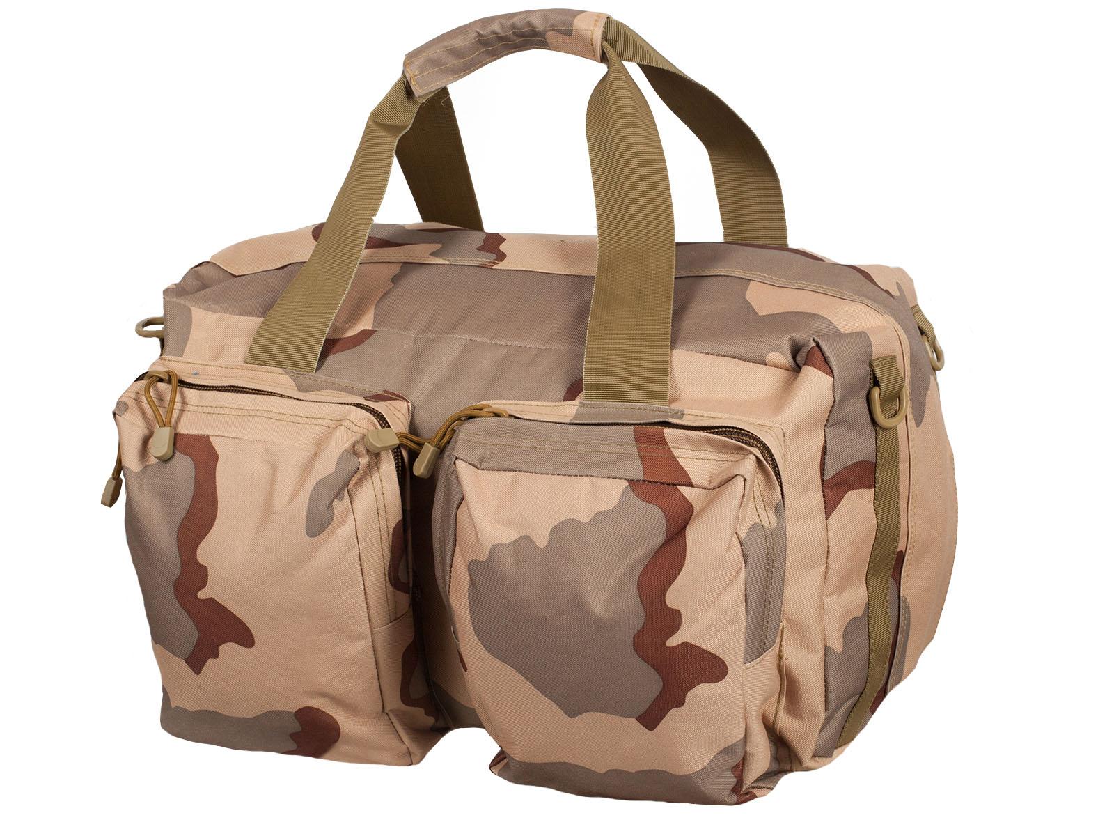 Камуфляжная дорожная сумка с нашивкой РХБЗ - заказать оптом