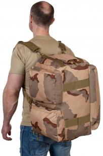 Камуфляжная дорожная сумка с нашивкой РХБЗ - купить с доставкой