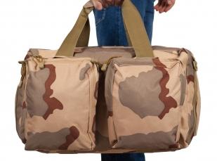 Камуфляжная дорожная сумка с нашивкой РХБЗ - купить в подарок