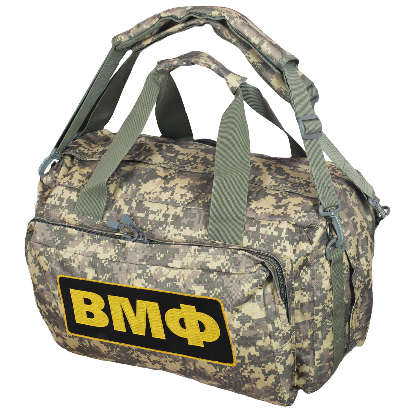 Камуфляжная дорожная сумка с нашивкой ВМФ