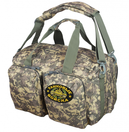 Камуфляжная эргономичная сумка-рюкзак Танковые Войска