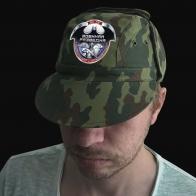 Камуфляжная форменная кепка с термонаклейкой Военная Разведка