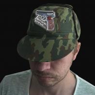 Камуфляжная форменная кепка с вышивкой Работайте братья
