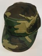 Камуфляжная кепка-немка с небольшим принтом