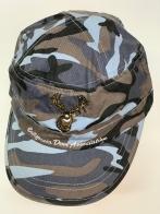 Камуфляжная кепка-немка с вышитым оленем