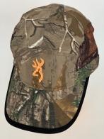 Камуфляжная кепка-пятипанелька Browning с черной каймой на козырьке
