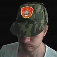 Камуфляжная кепка с эмблемой Рожден в СССР