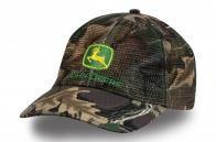 Камуфляжная кепка с сеткой John Deere