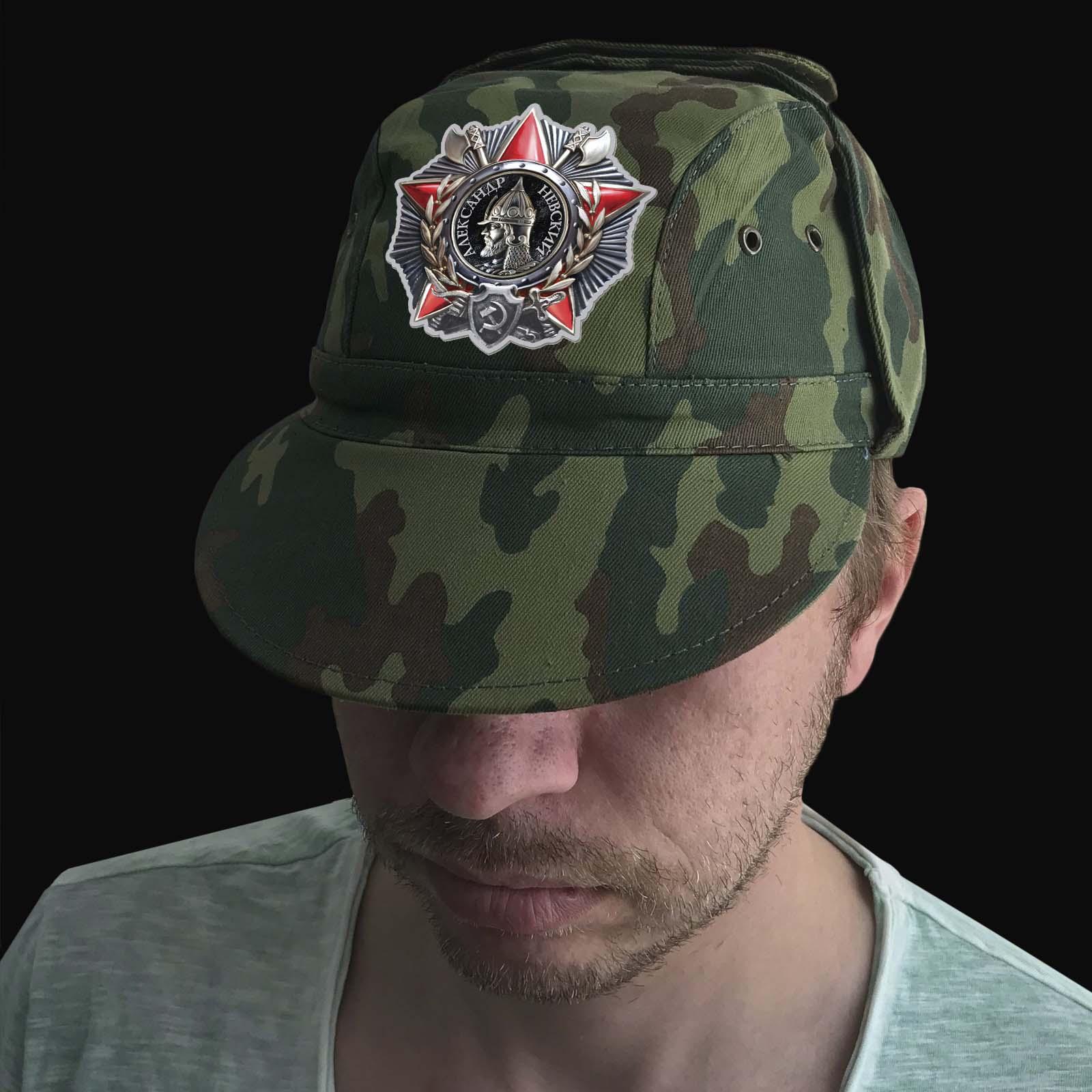 Камуфляжная кепка с термотрансфером Орден А Невского