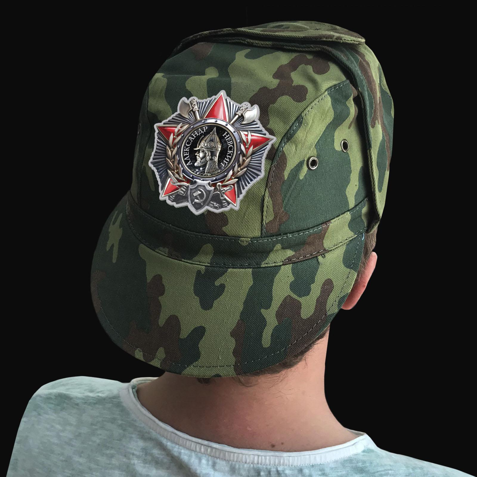 Купить камуфляжную кепку с термотрансфером Орден А. Невского по низкой цене