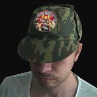 Камуфляжная кепка с термотрансфером Спецназ