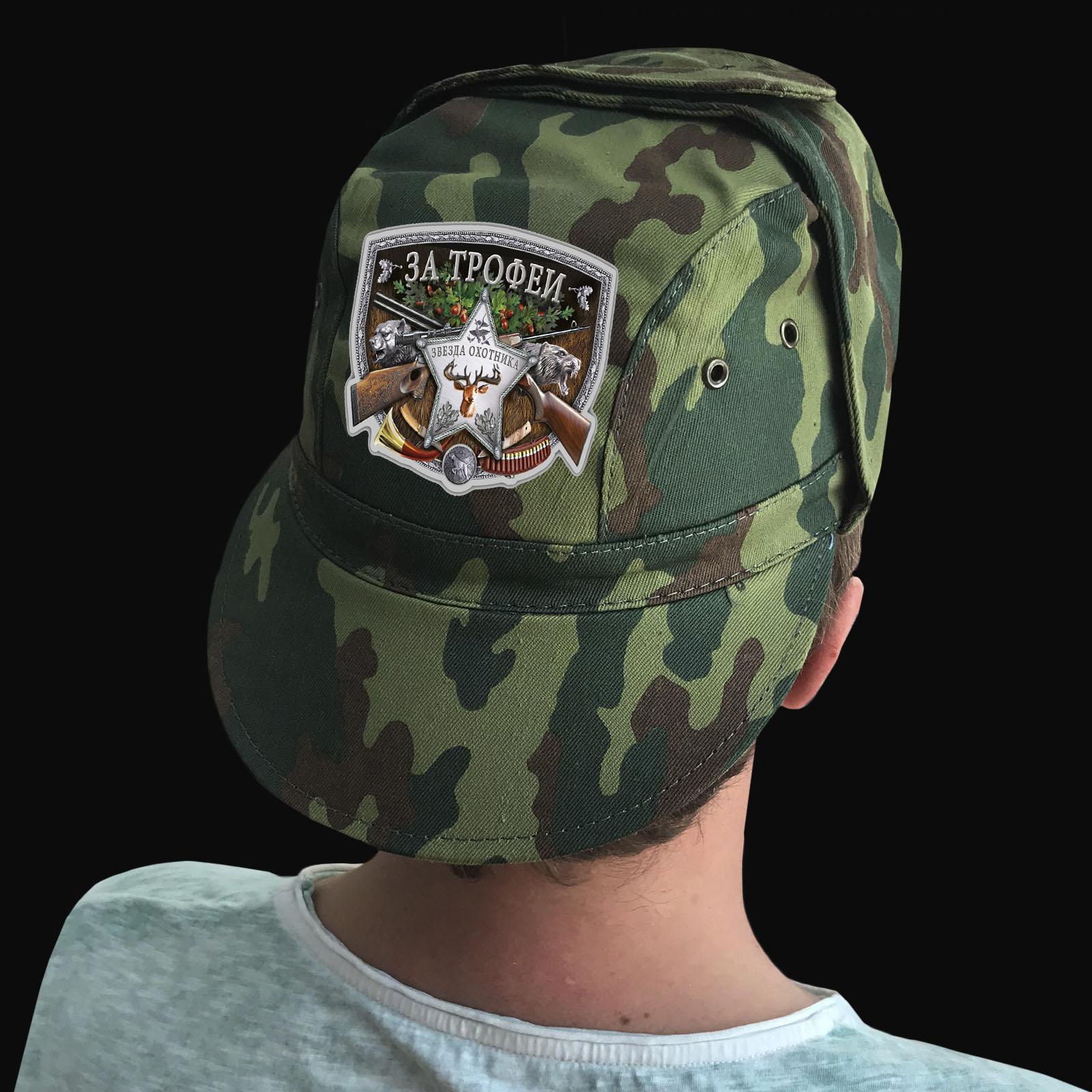 Купить камуфляжную кепку с термотрансфером За трофей с доставкой или самовывозом