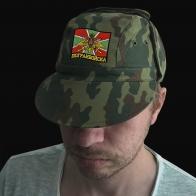 Камуфляжная милитари-кепка с нашивкой Погранвойска