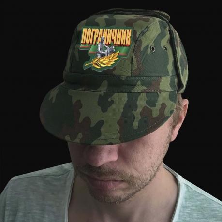 Камуфляжная мужская кепка с термотрансфером Пограничник