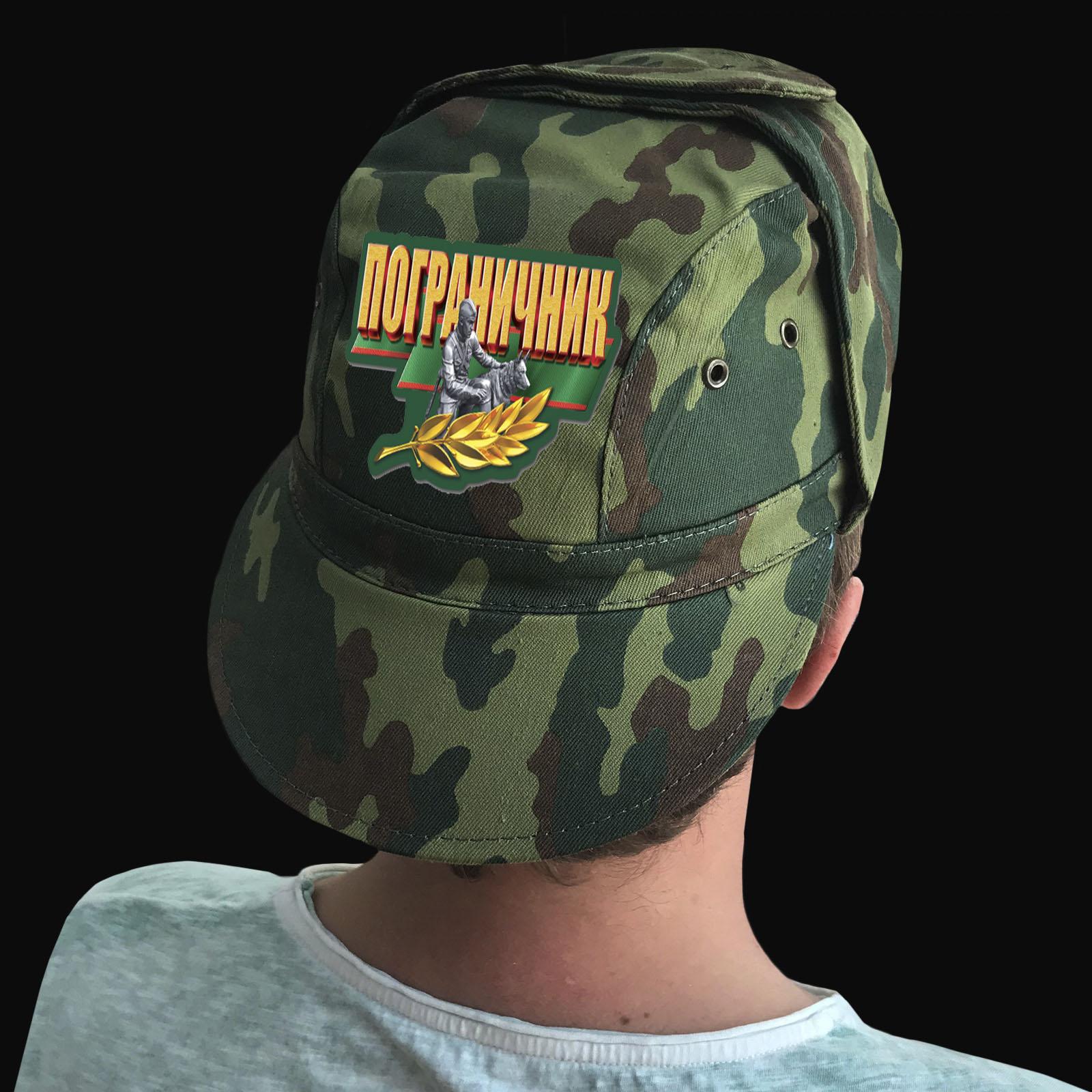 Купить камуфляжную мужскую кепку с термотрансфером Пограничник с доставкой или самовывозом