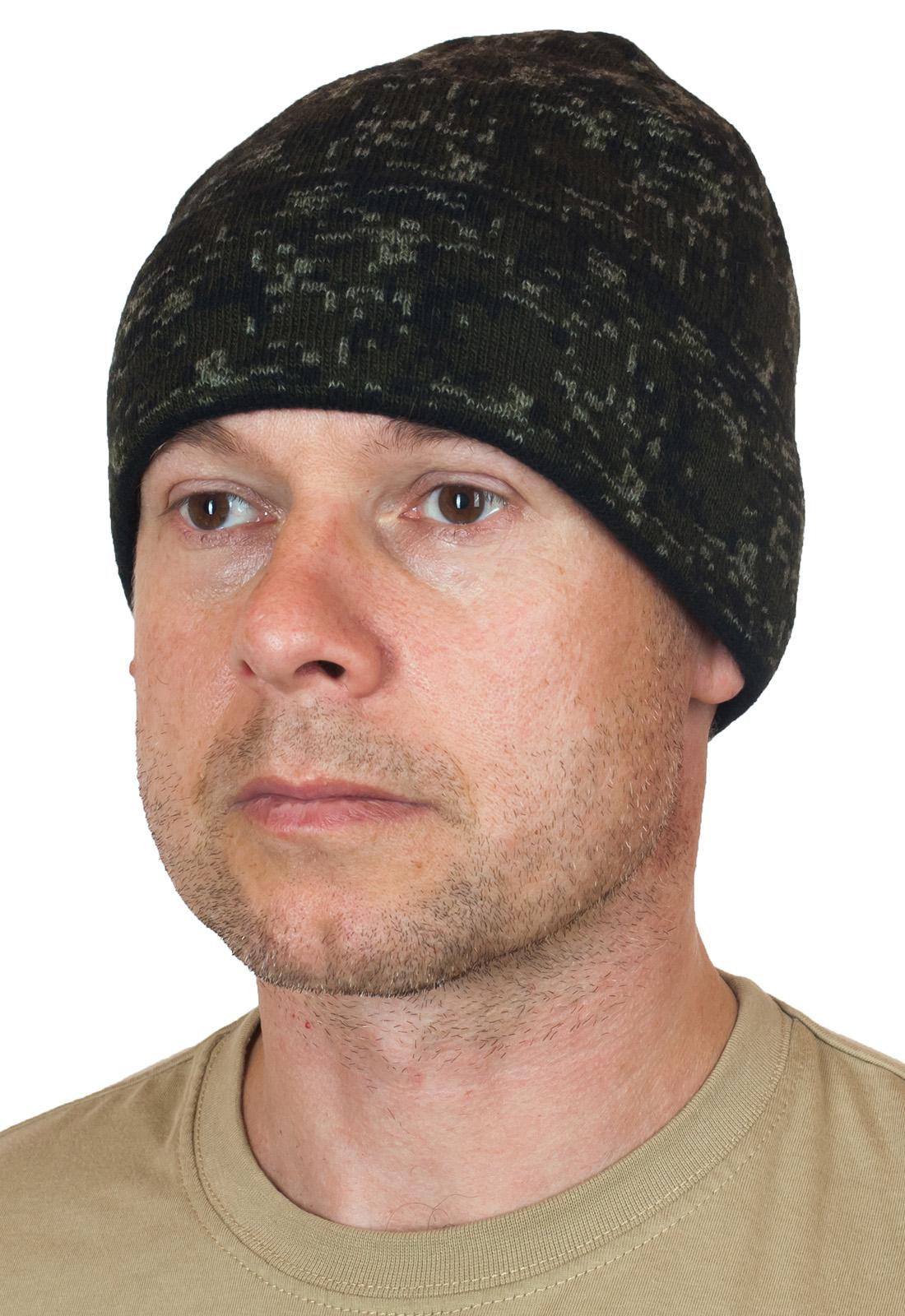 Камуфляжная мужская шапка