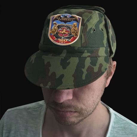 Камуфляжная надежная кепка с термотрансфером Военная Разведка