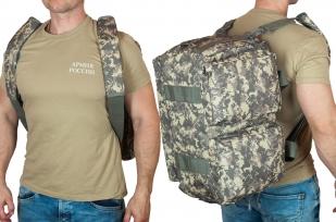 Камуфляжная походная сумка с нашивкой РХБЗ - заказать в подарок