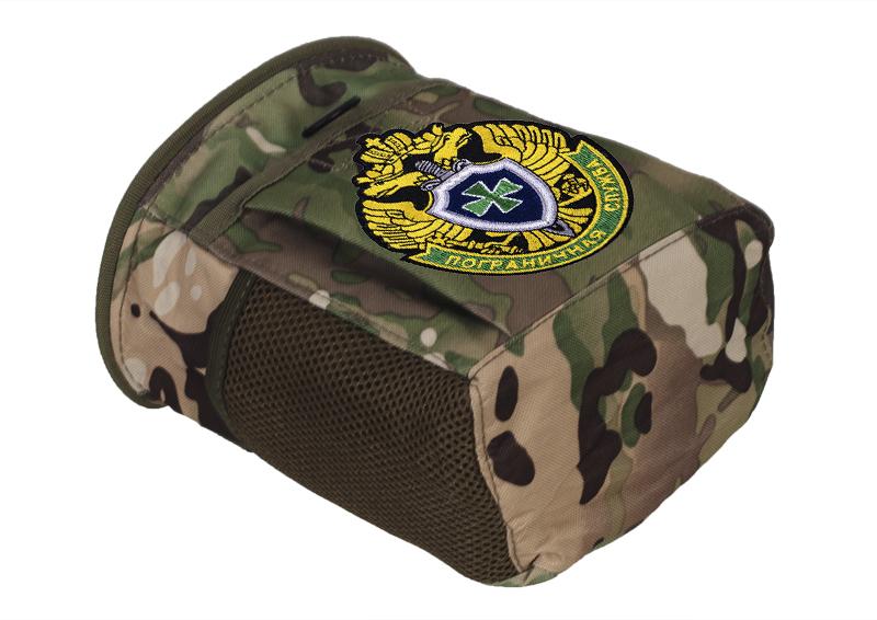 Купить камуфляжную поясную сумку для фляги с нашивкой Погранвойска с доставкой в любой город