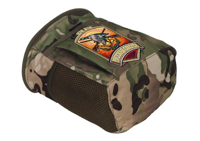 Купить камуфляжная поясная сумка с нашивкой Русская Охота с доставкой в любой город
