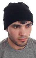 Классическая вязаная мужская шапка