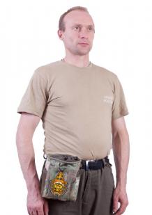 Камуфляжная сумка под флягу с эмблемой МВД - практичный подарок чекисту оптом в Военпро