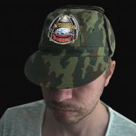Камуфляжная удобная кепка с вышивкой РВСН