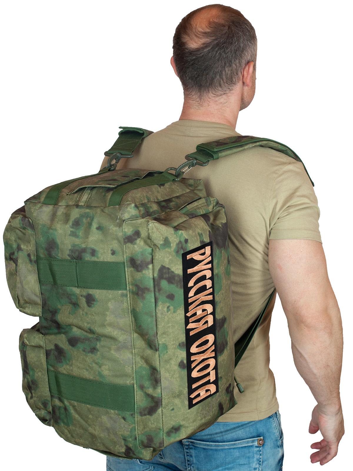 Купить камуфляжную заплечную сумку-баул Русская Охота онлайн выгодно