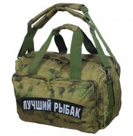 Камуфляжная заплечная сумка с нашивкой Лучший Рыбак