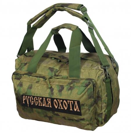 Камуфляжная заплечная сумка с нашивкой Русская Охота - купить оптом