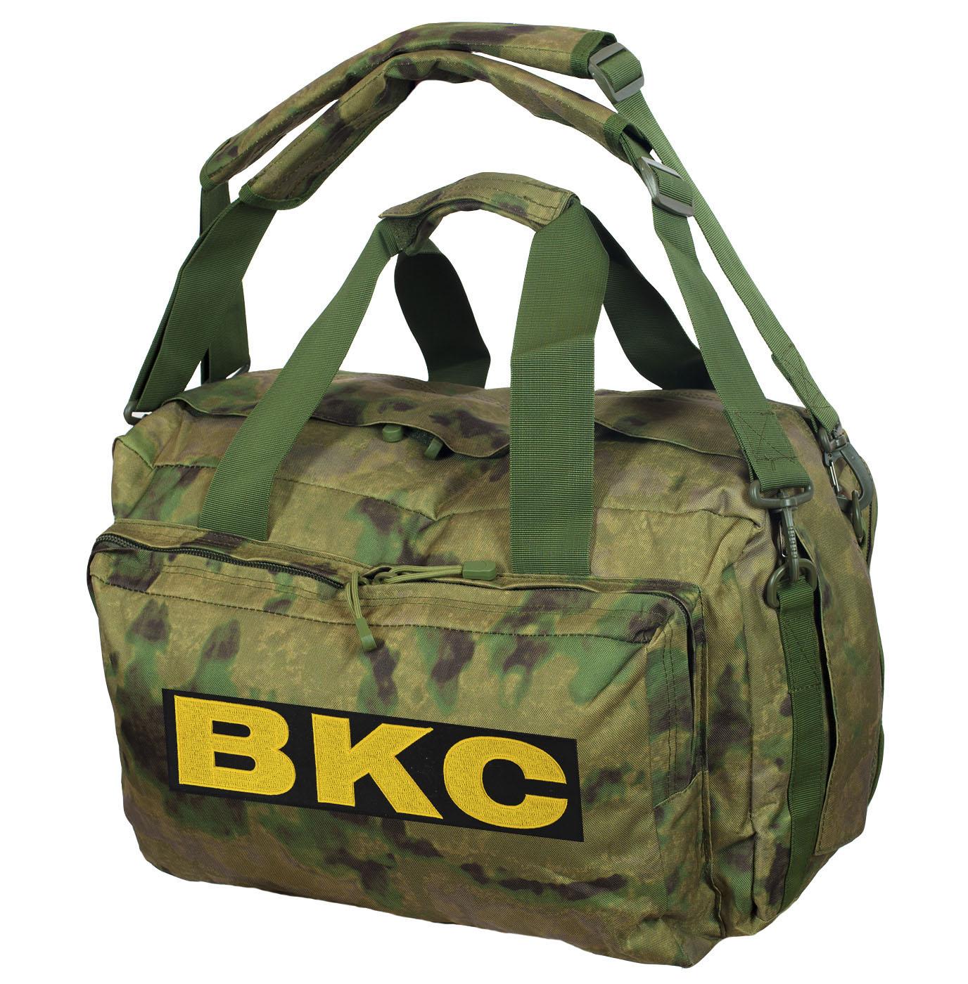 Камуфляжная заплечная сумка с нашивкой ВКС