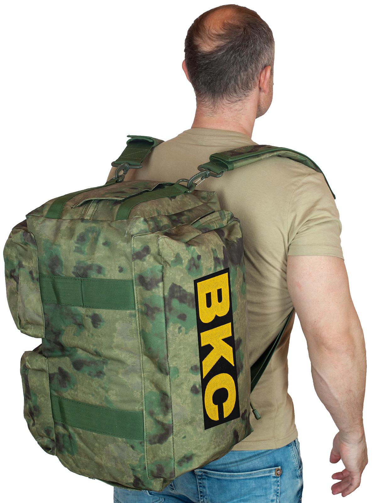 Купить камуфляжную заплечную сумку с нашивкой ВКС по выгодной цене